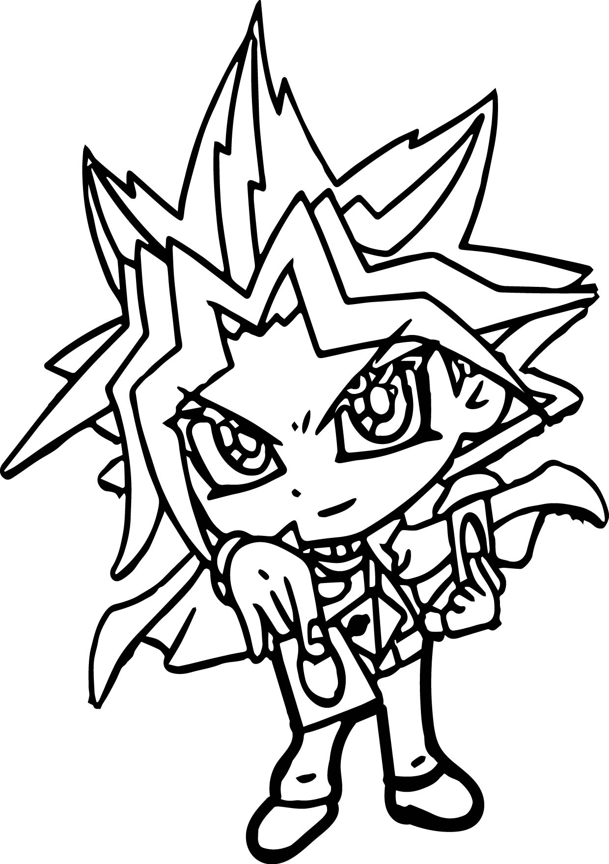 Small Yugioh Coloring Page