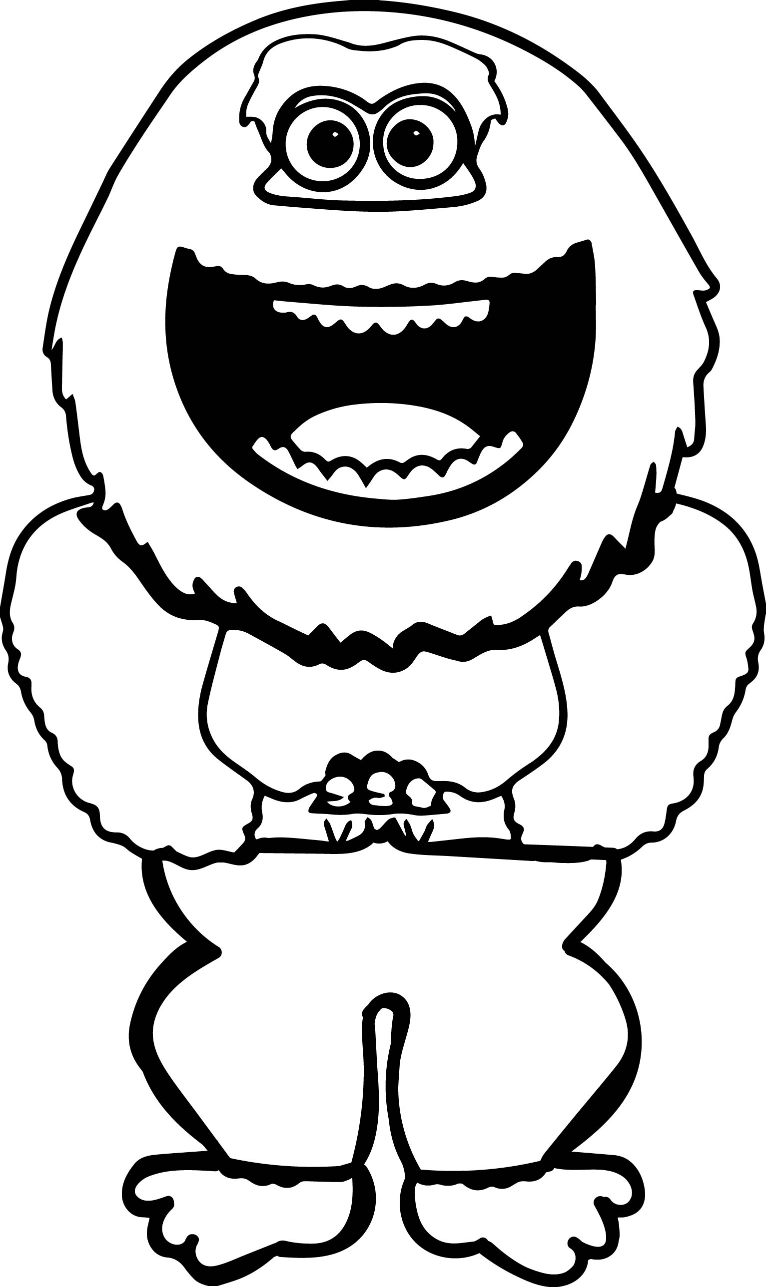 Smiling Abominable Snowman Coloring Page
