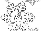 Snowflake For Kids Coloring Page
