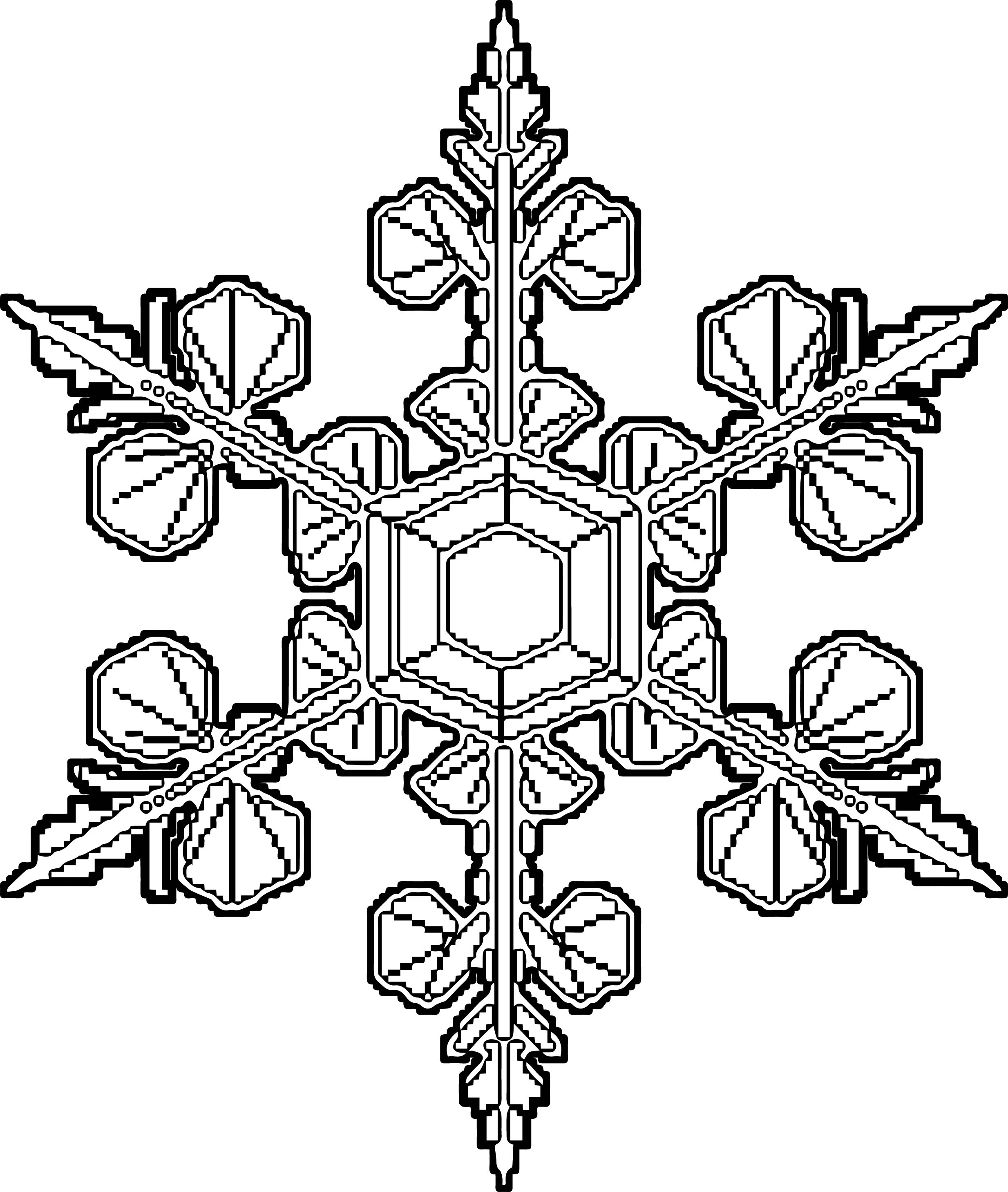 lace coloring pages - snowflake lace coloring page