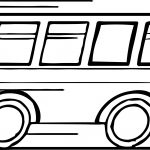 Speed Going Minibus Coloring Page