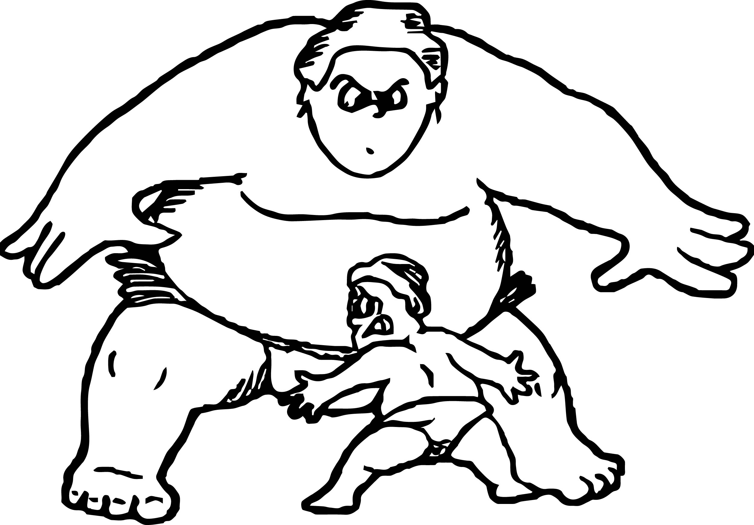 Sport Graphics Sumo Wrestling Coloring Page