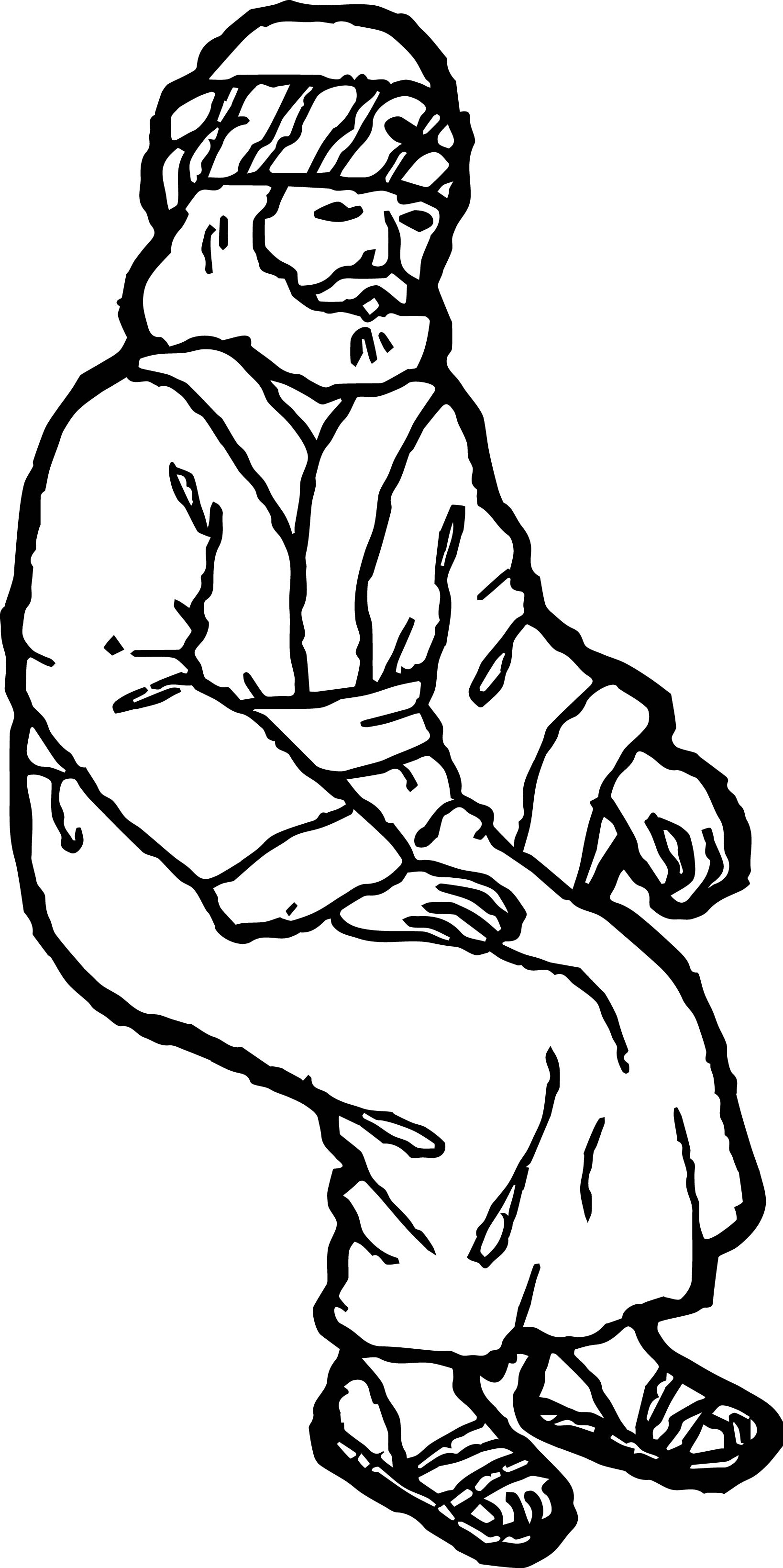 Staying Zacchaeus Jesus Coloring Page
