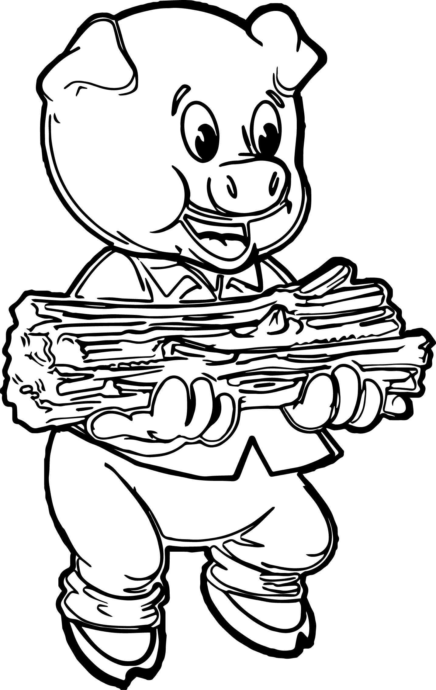 stick pig coloring page wecoloringpage