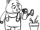 The 3 Little Pigs Pig Coloring Page