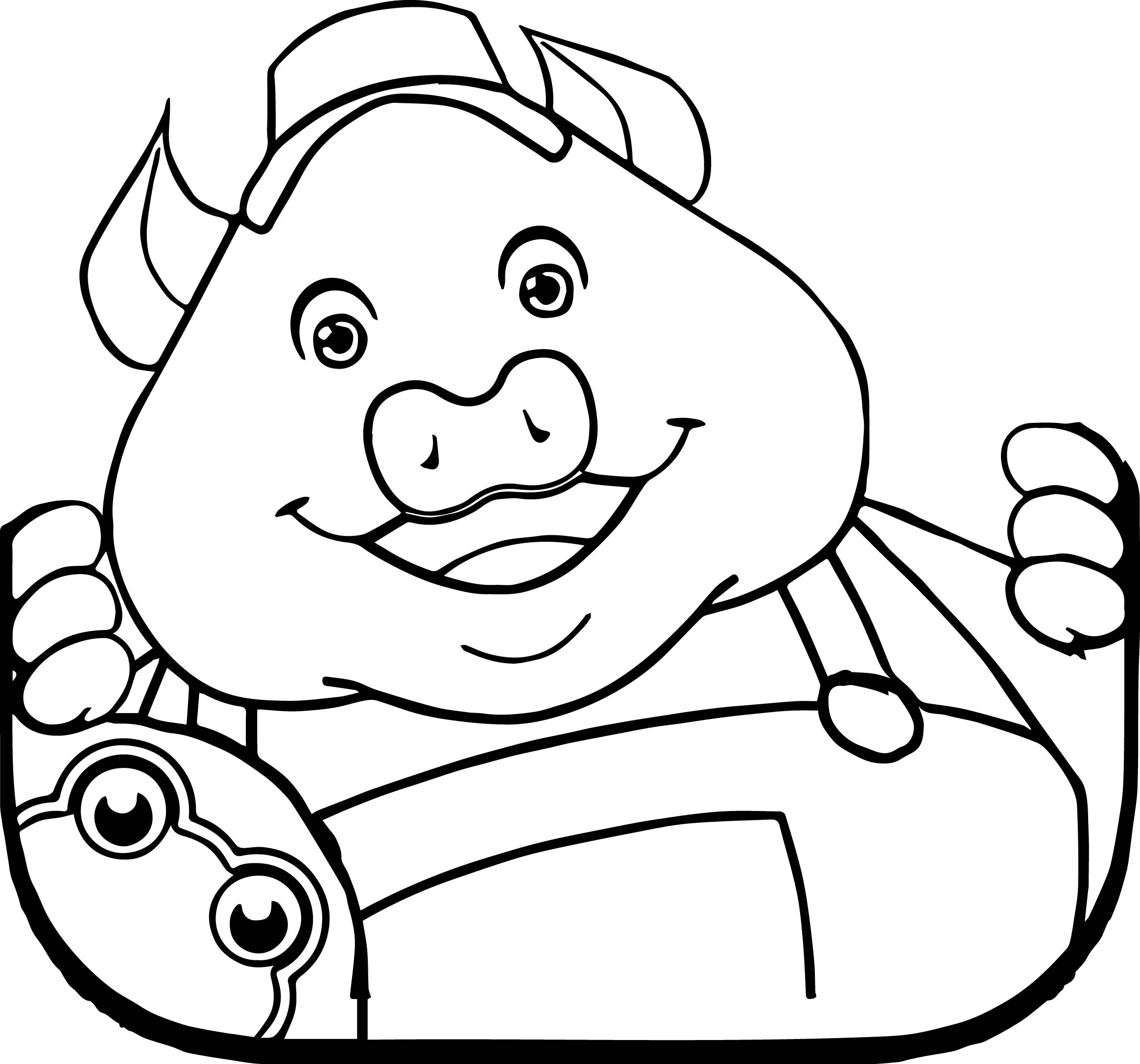 The 3 Little Pigs Storybook Coloring Page