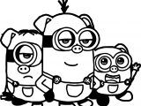 The Three Little Pigs Minions Coloring Page