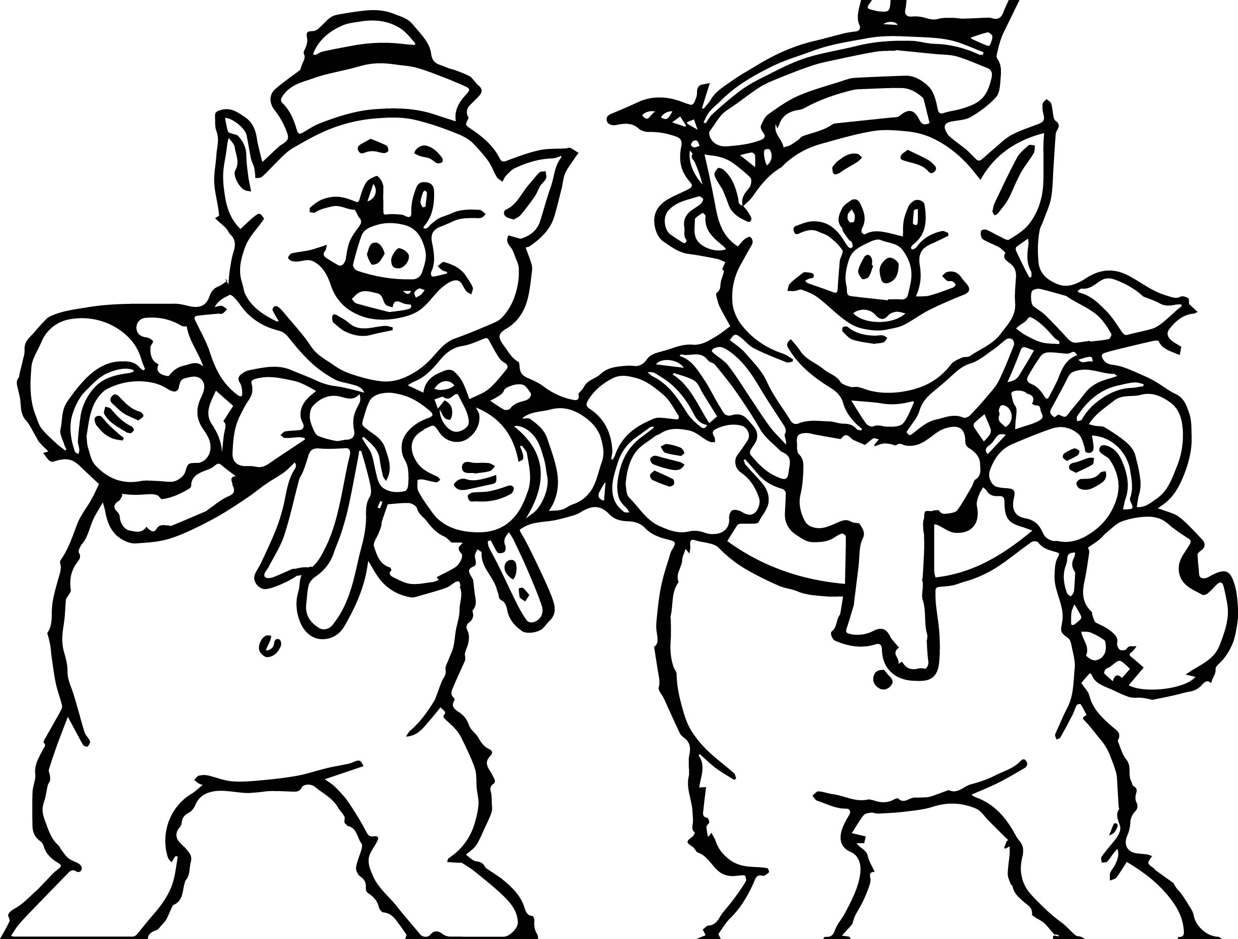 the three two little pigs coloring page wecoloringpage