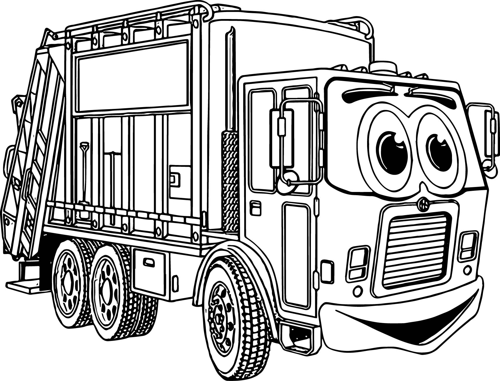 Truck Cartoon Best Coloring Page