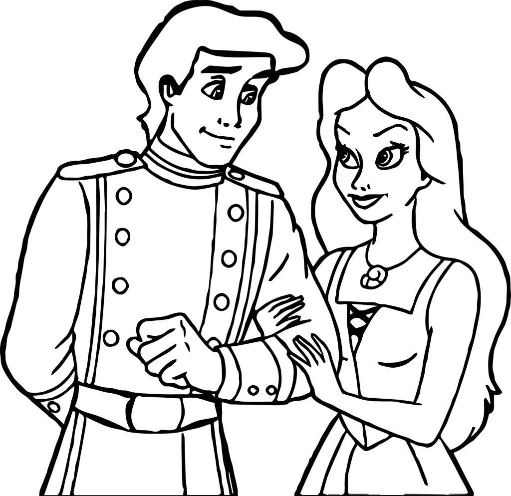 walt disney prince eric vanessa disney princess coloring page
