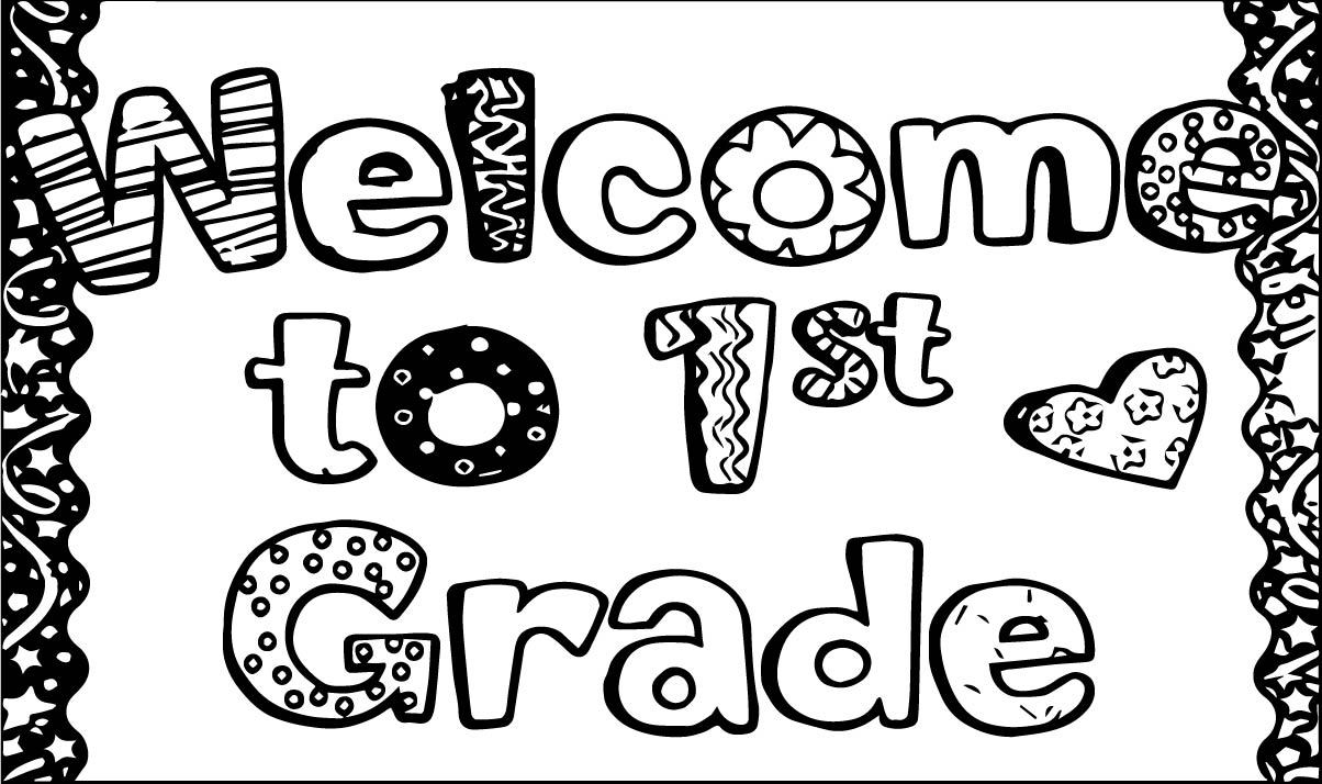welcome to 1st grade coloring page wecoloringpage