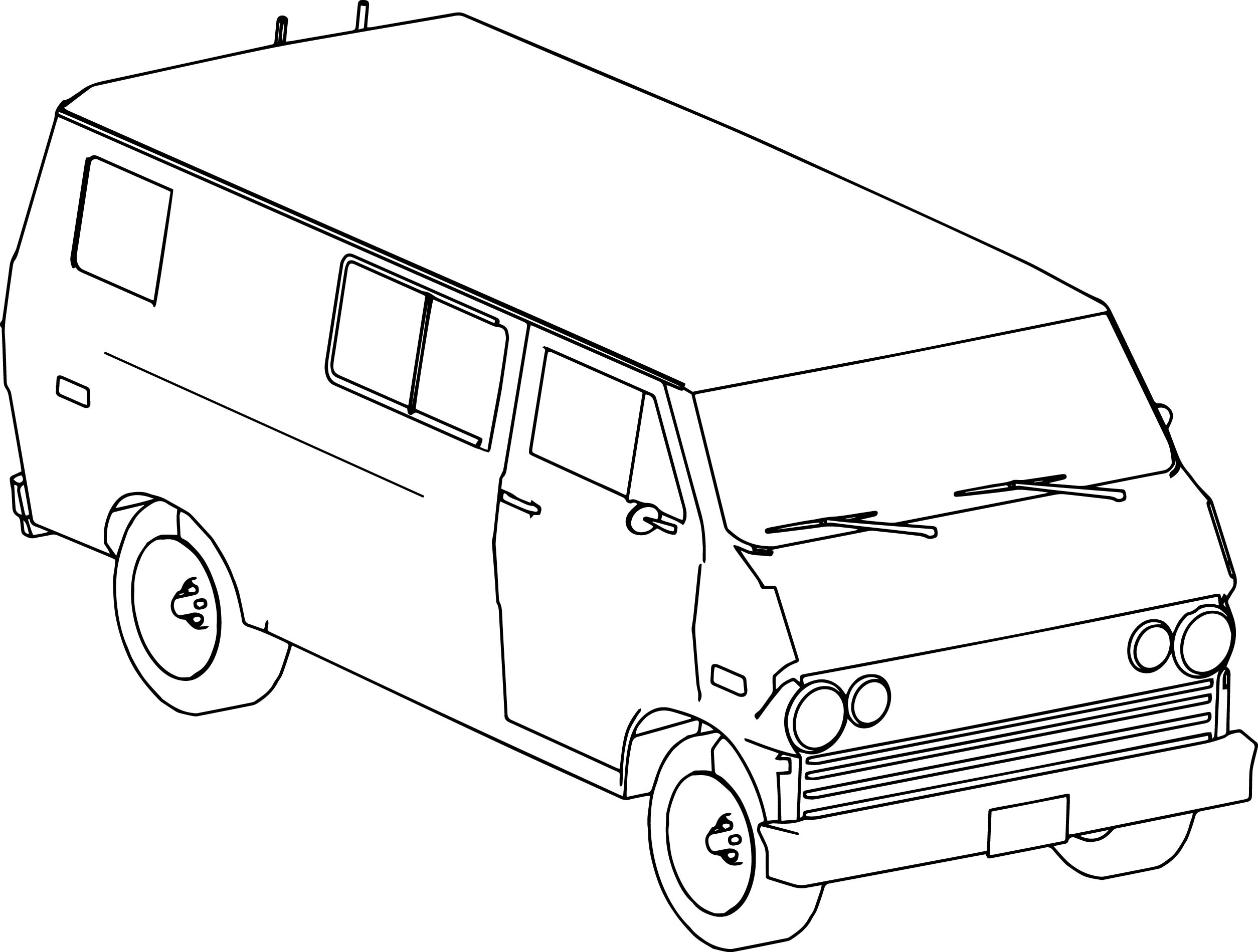 XNA Protect Van RTHR Car Coloring Page
