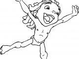 Young Tarzan Hurray Coloring Page
