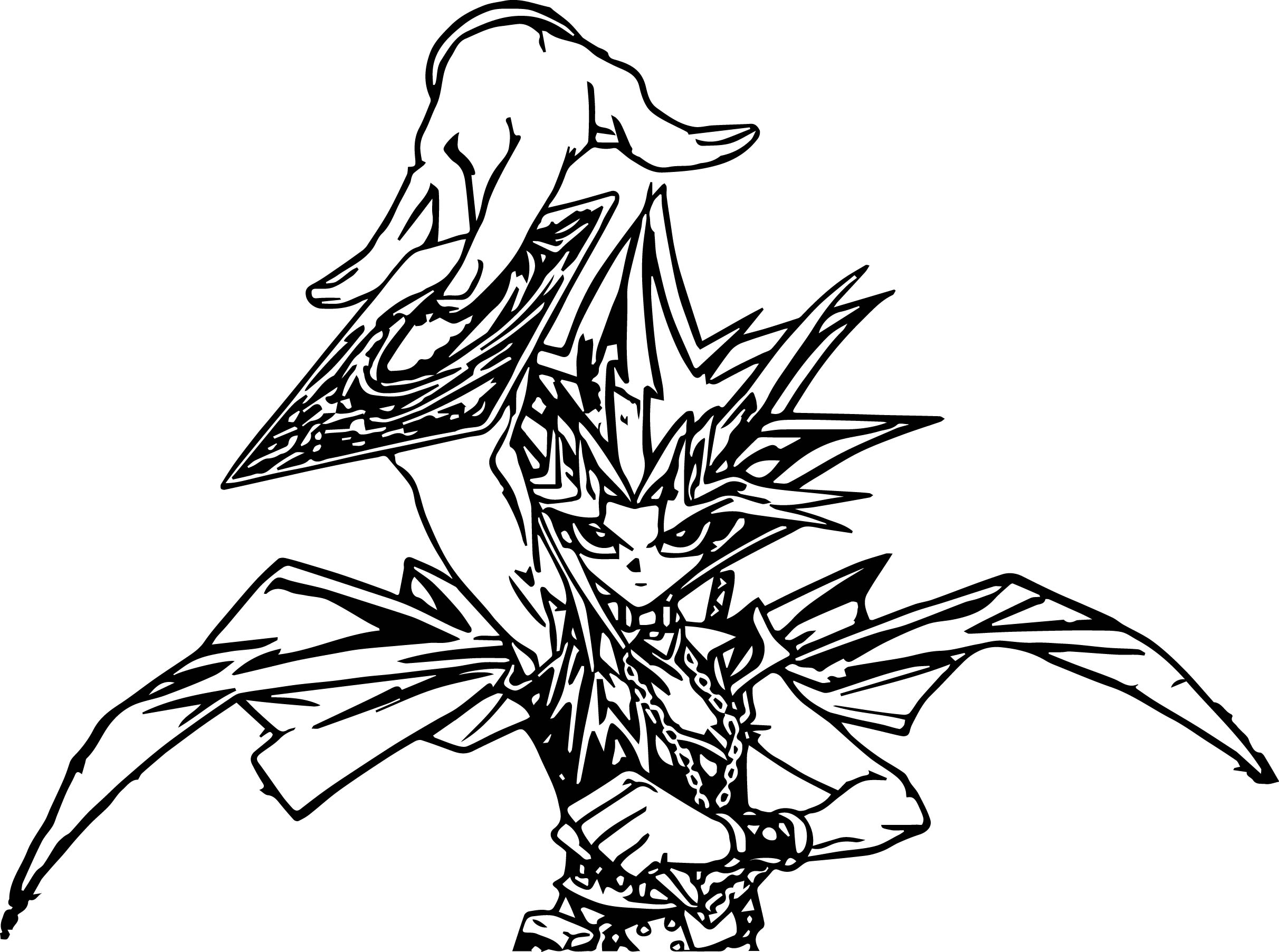 Yu gi oh card coloring page for Card coloring pages