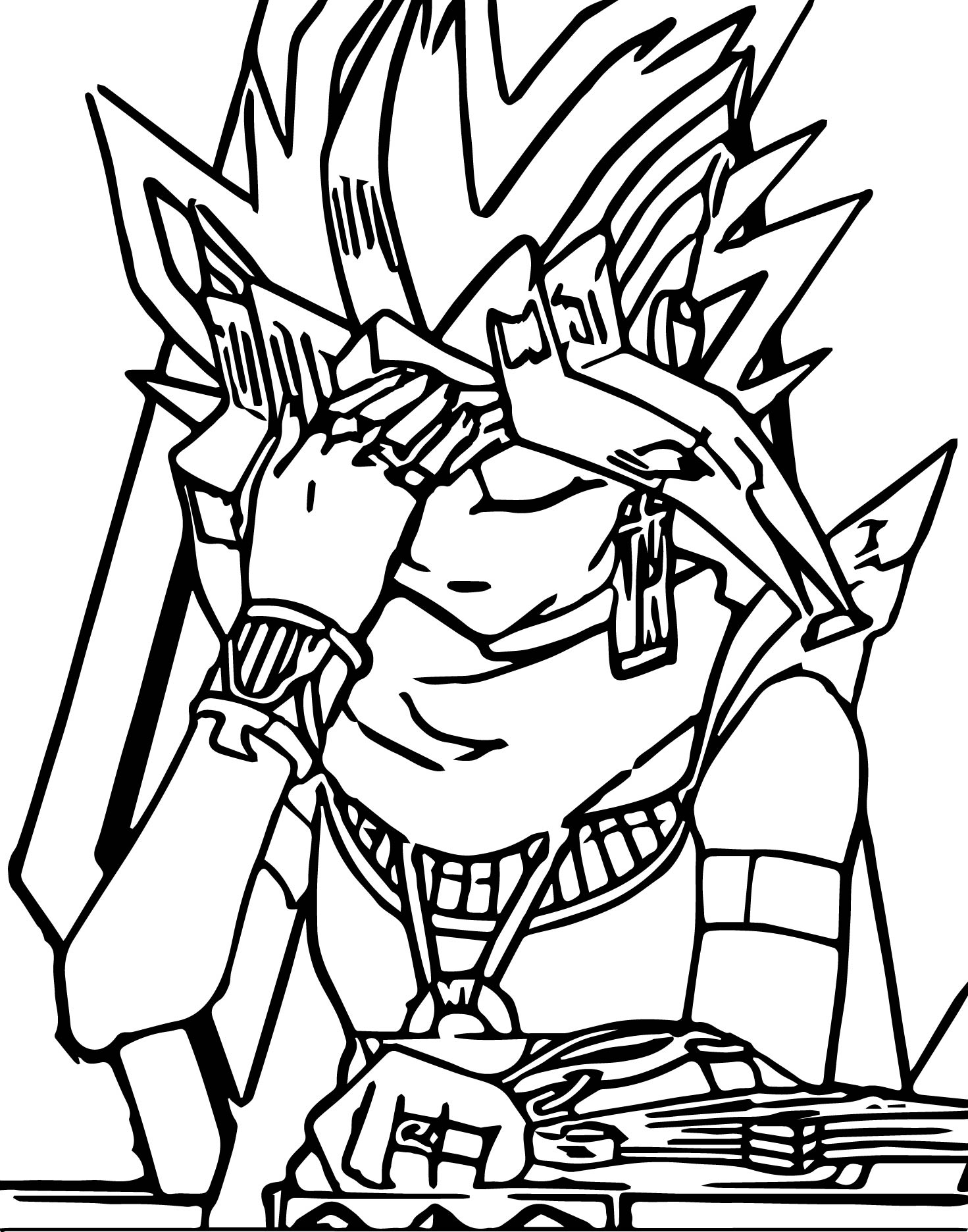 Free coloring pages yugioh - Yu Gi Oh No Coloring Page