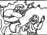 Zacchaeus Jesus Help Coloring Page