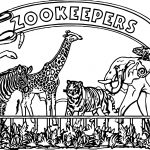 Zookeepers Best Graphic Coloring Page