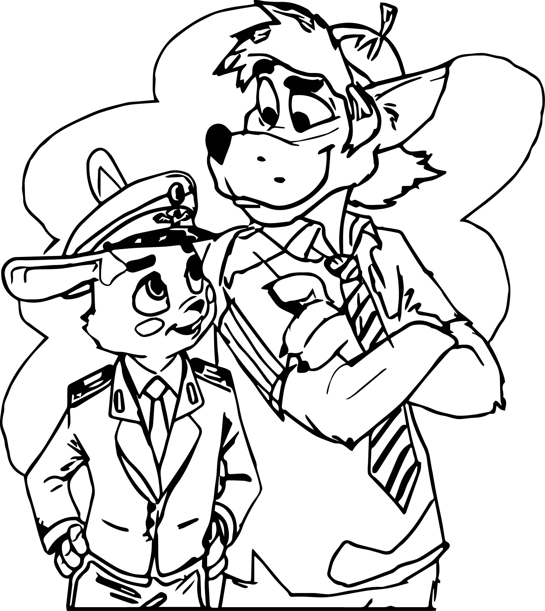 Zootopia Different Judy Hopps Nick Wilde Coloring Page