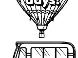 100 Days Bus Balloon Coloring Page