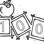 100 Days Coloring Page