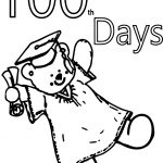 100 Days Cute Bear Coloring Page
