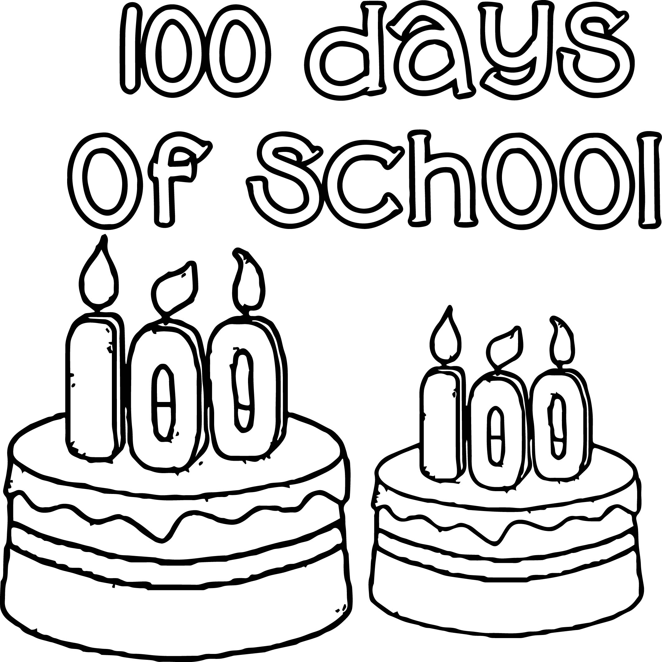 100 days of school birthday coloring page