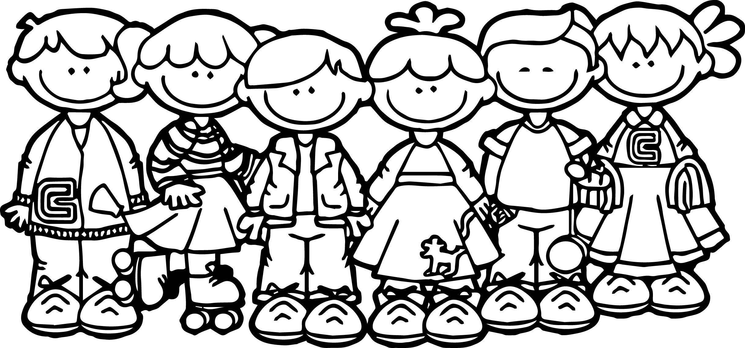 100 Days Of School Children Coloring Page Wecoloringpage Day Of School Coloring Pages