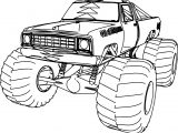 1976 Dodge Monster Truck 4×4 Coloring Page