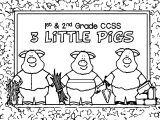 1st 2nd Grade 3 Little Pigs Coloring Page