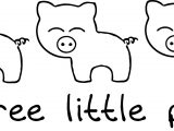 3 Little Pigs Basic Coloring Page