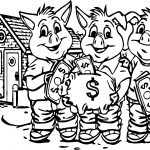 3 Pigs Cover Too Money Coloring Pages