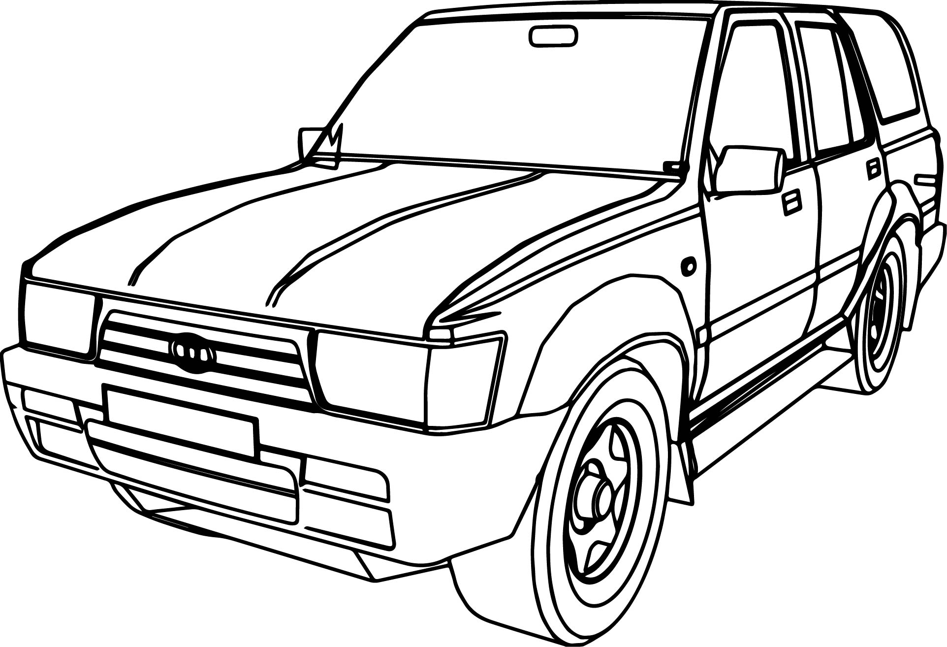 4 Runner Jeep Car Coloring Page
