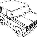 4 Wheel Basic Car Coloring Page