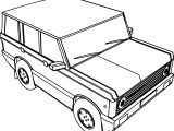 4 Wheel Basic Car Coloring Page