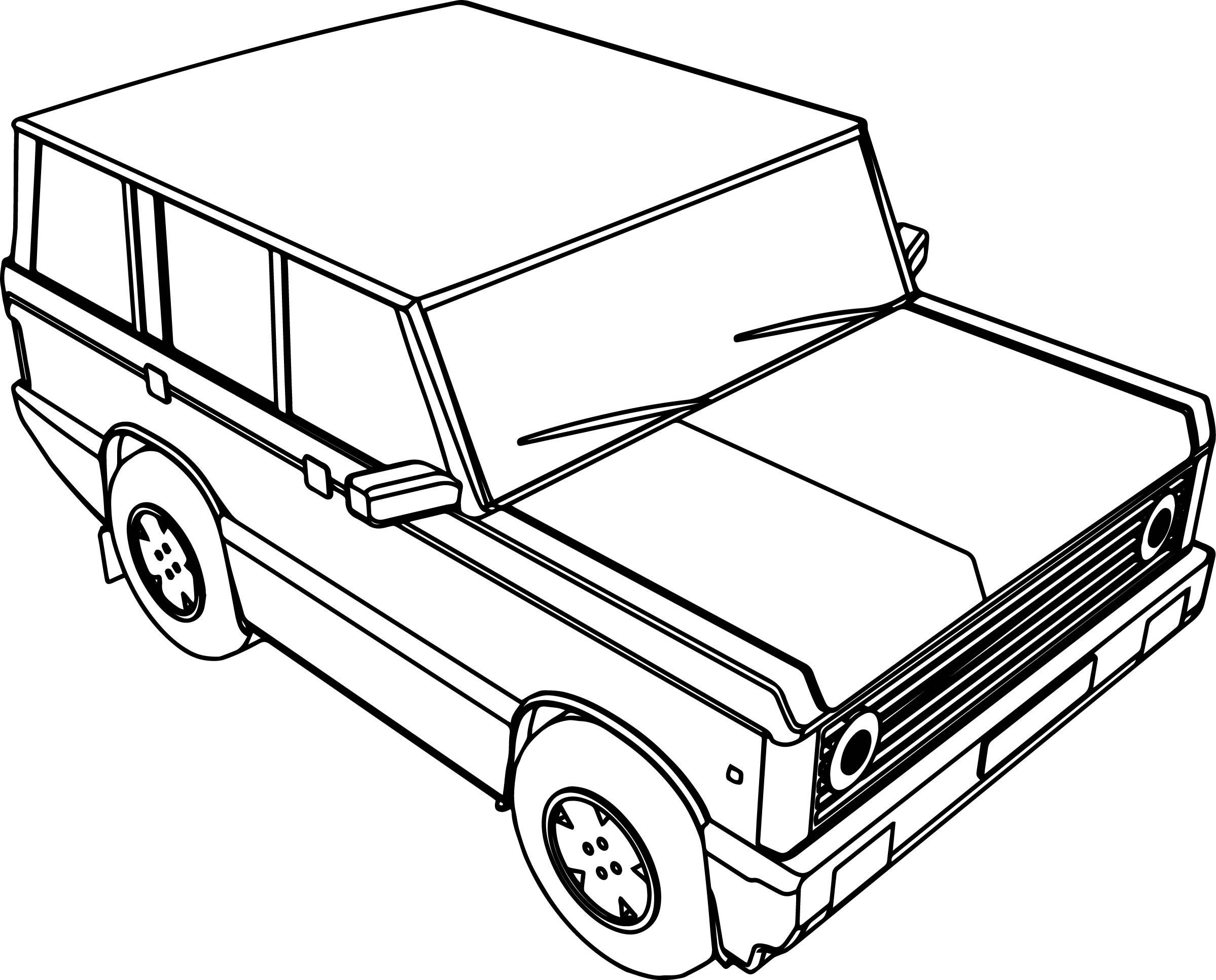 Top Wheel Basic Car Coloring Page With Basic Coloring Pages Basic Coloring Pages