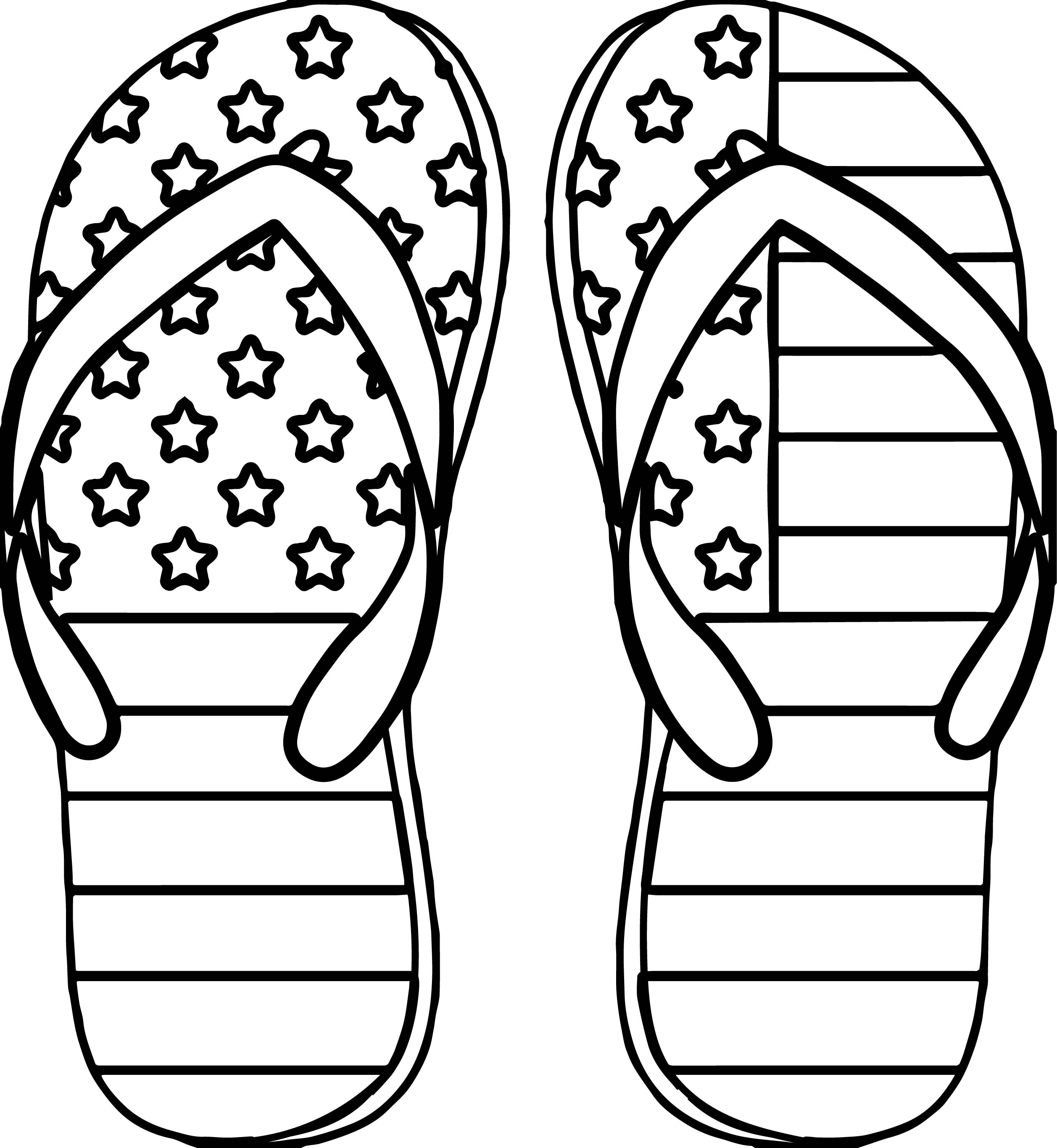 4Th Of July Color Pages 4Th July Slipper Coloring Page  Wecoloringpage