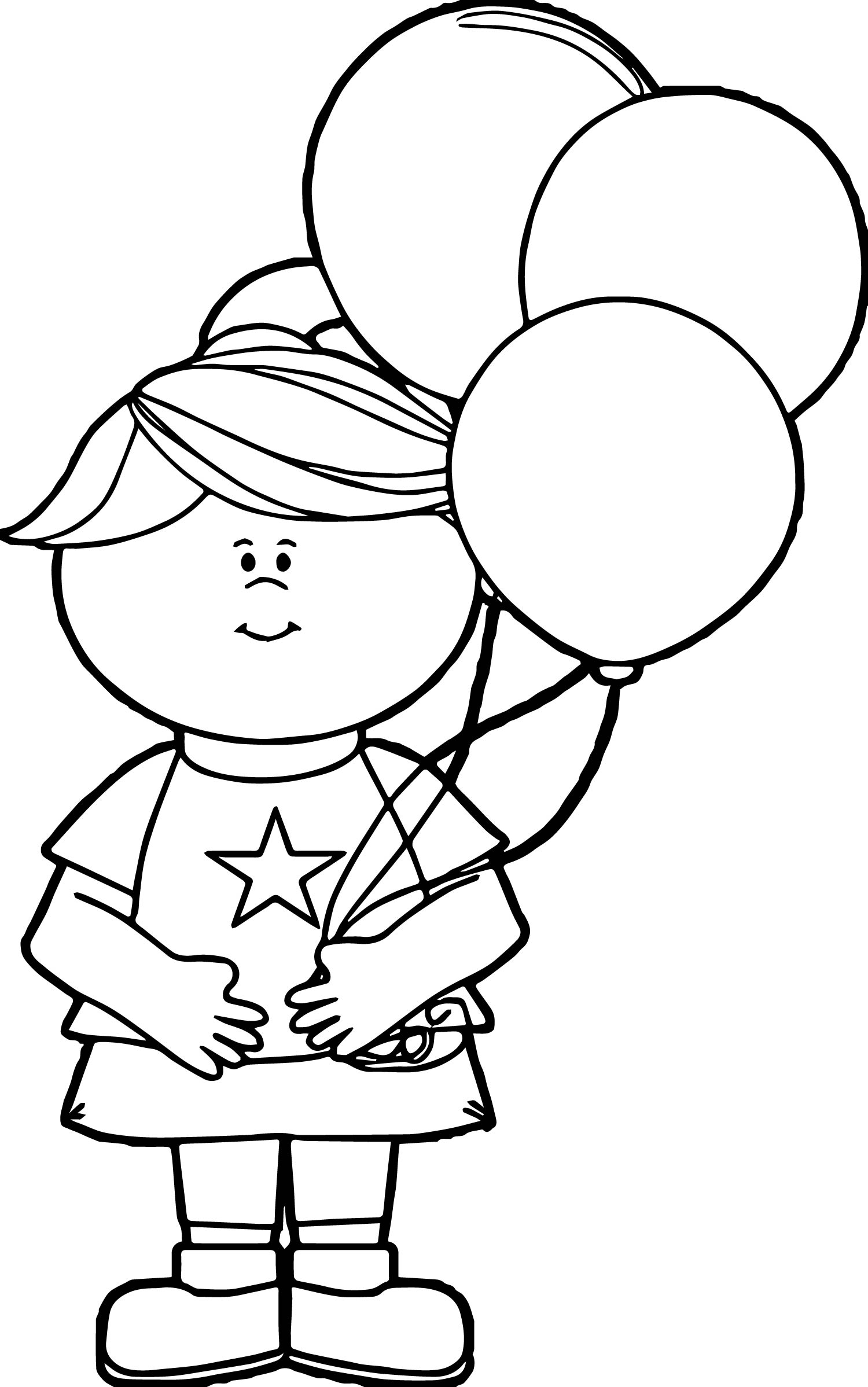 4th of july balloon coloring page wecoloringpage