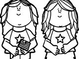 4th Of July Girls Coloring Page