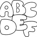 A B C D E F Coloring Page