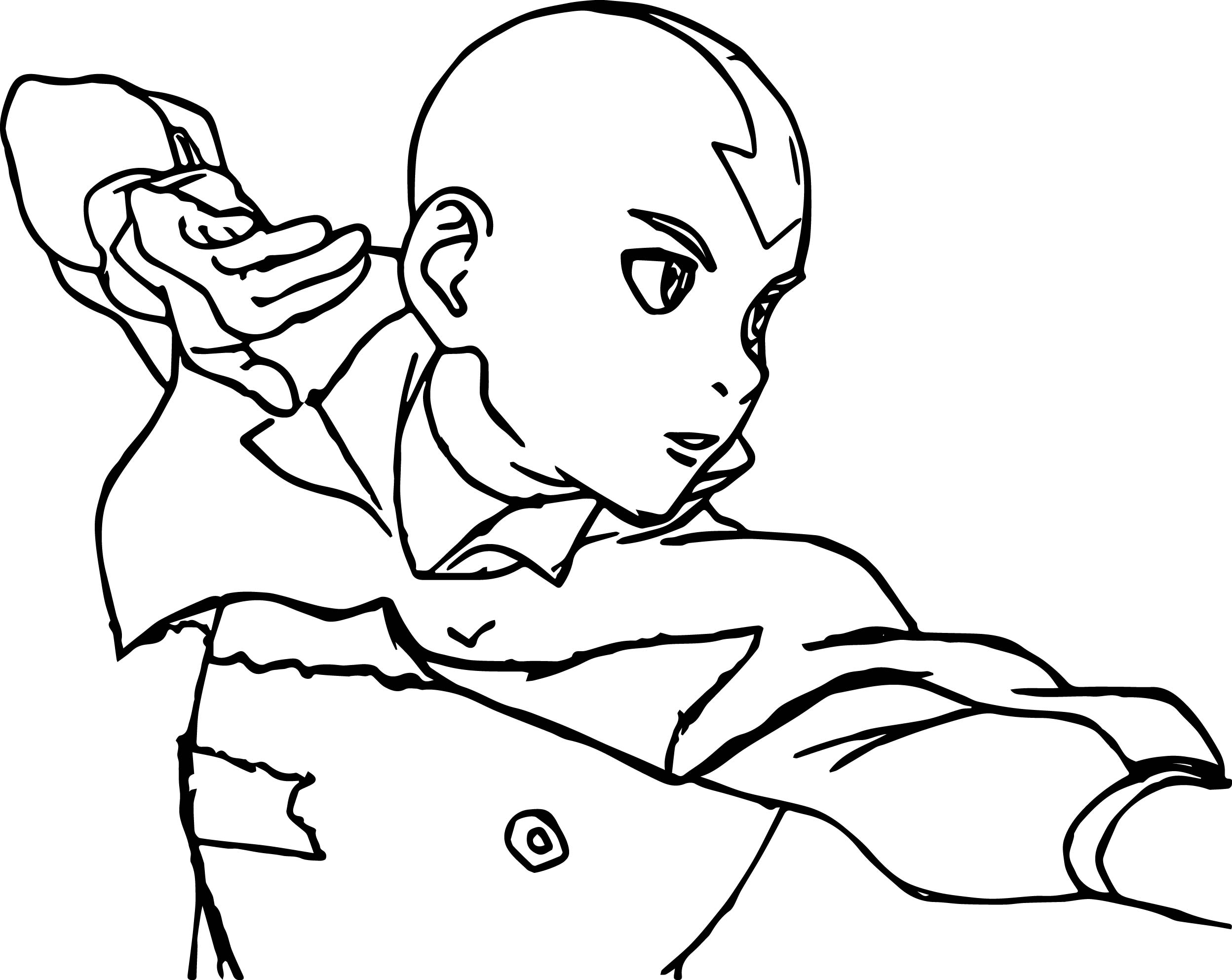 Aang Air Avatar The Last Airbender Coloring Page  Wecoloringpage