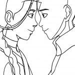 Aang And Katara Couple Avatar Aang Coloring Page