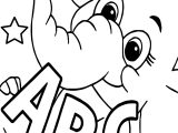 Abc Elephant Coloring Page