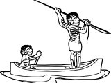Aboriginal In The Sea Coloring Page