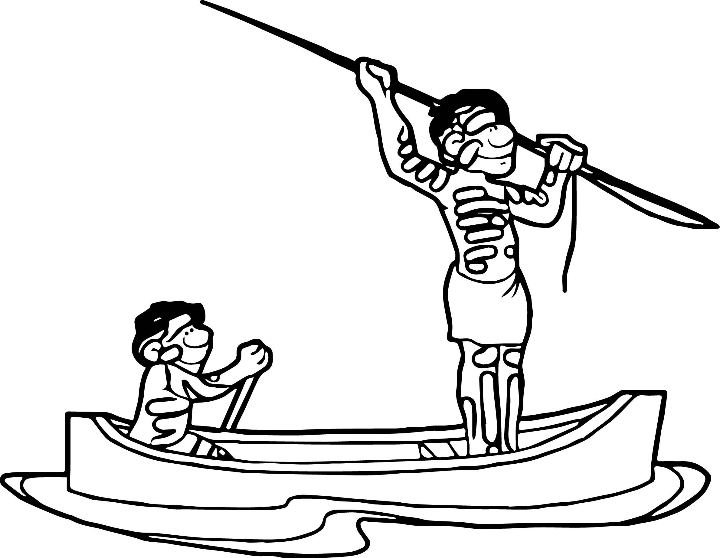 Aboriginal In The Sea Coloring Page