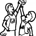 Activity Voleyball Coloring Page