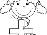 Addition Funny Girl Coloring Page