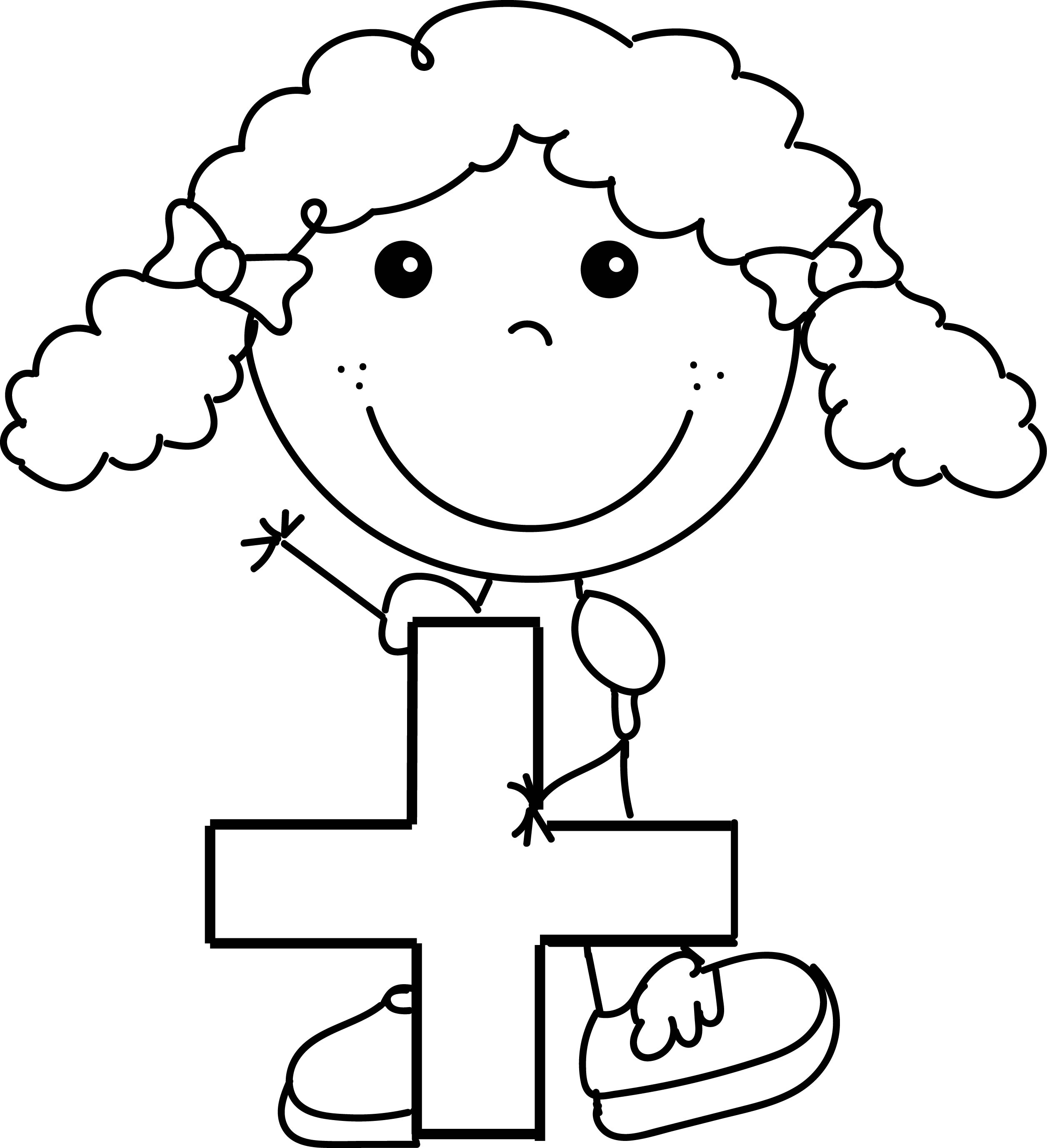 funny girl coloring pages - photo#11