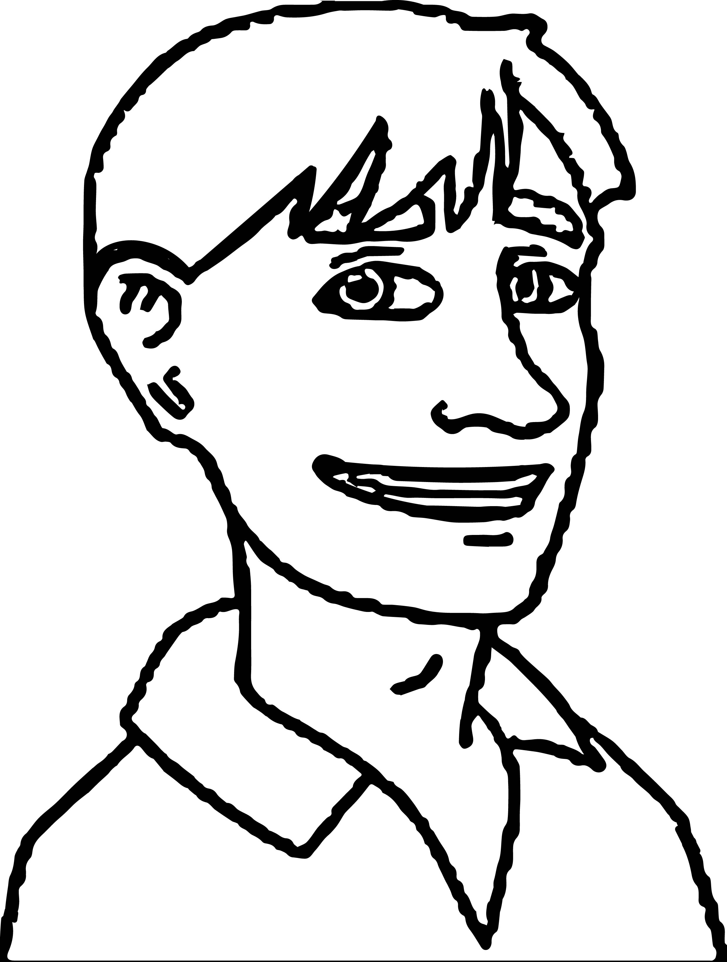 Adult Boy Coloring Page