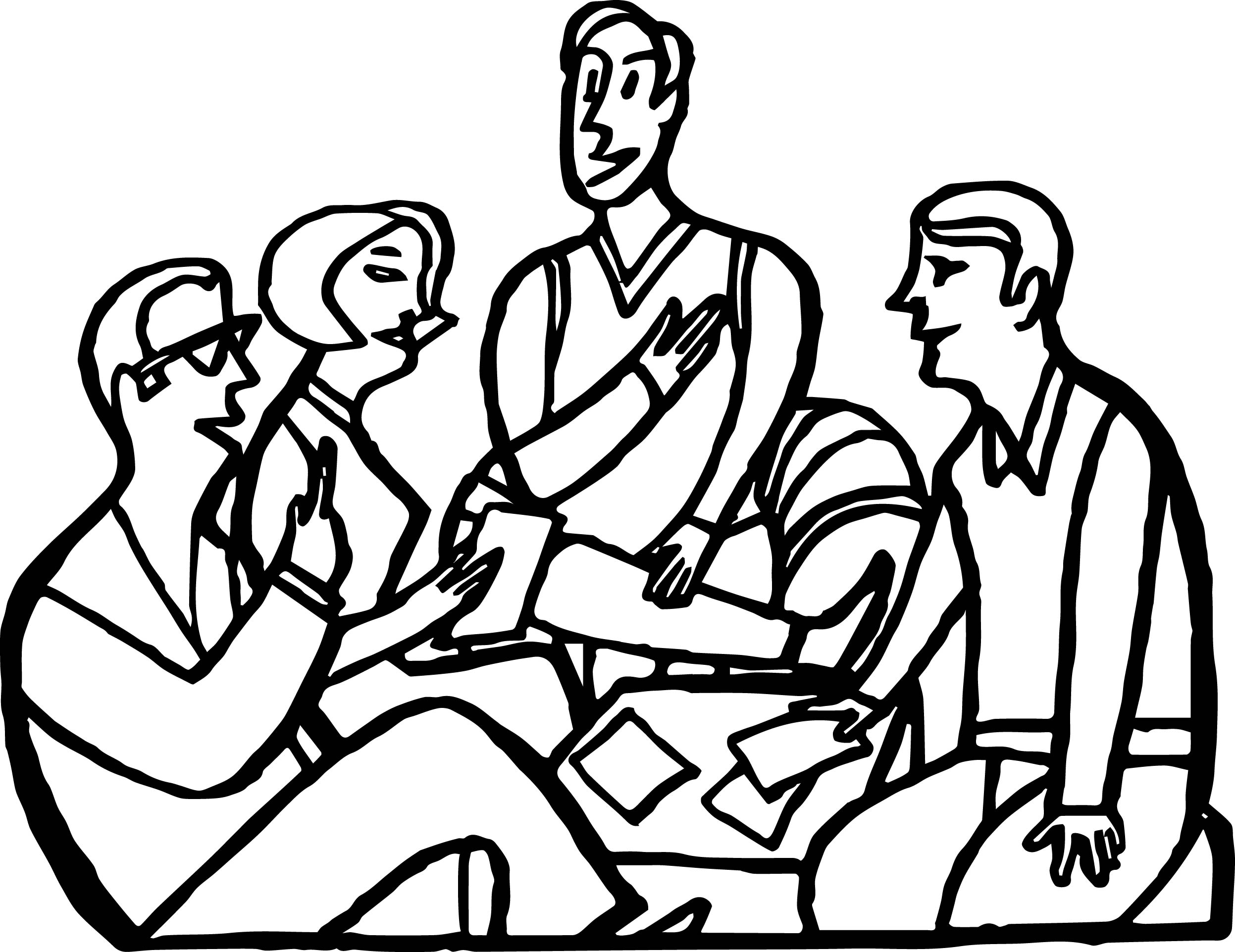 Adult Friends Coloring Page