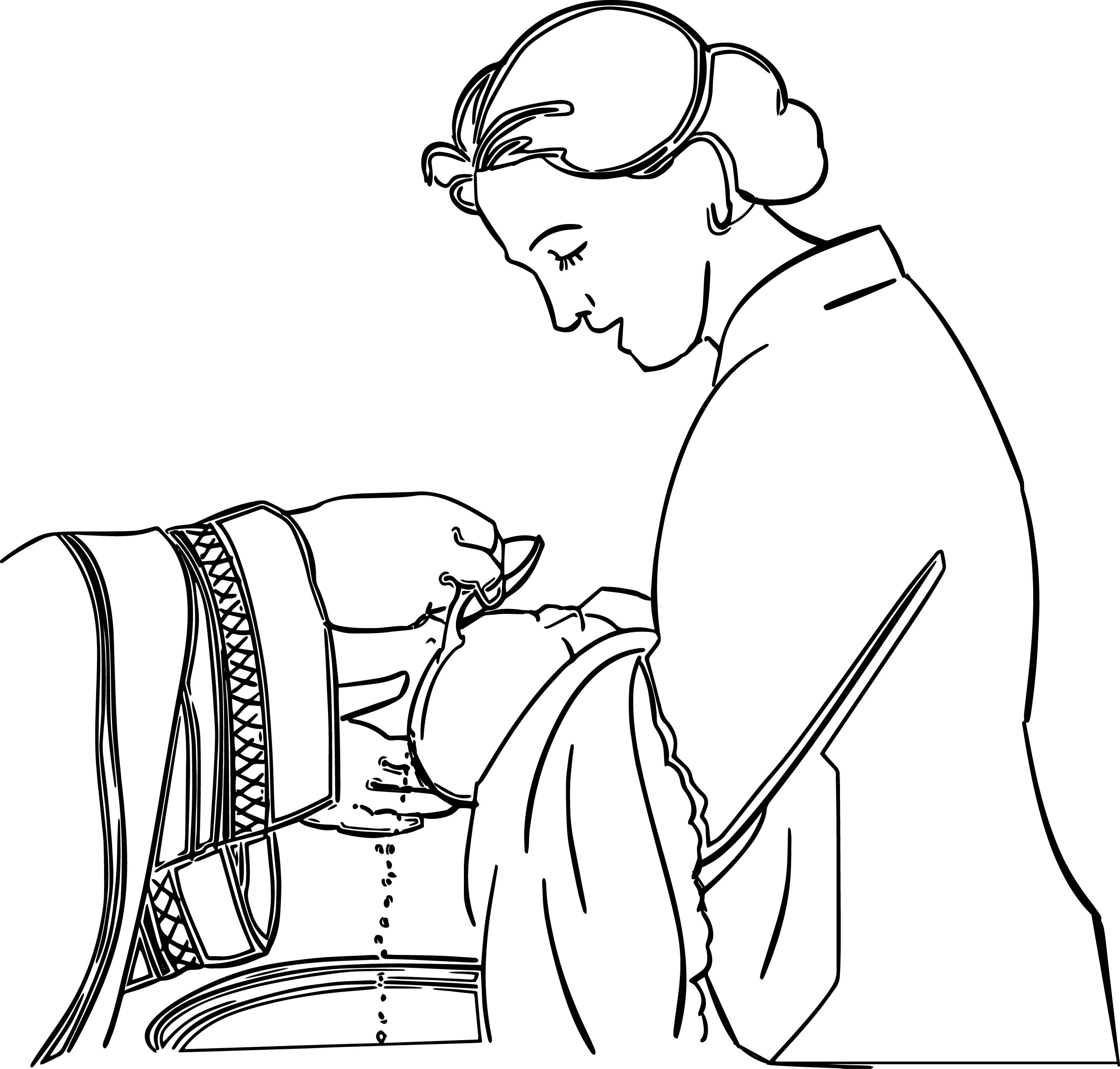 Adult Woman Baby Wash Coloring Page